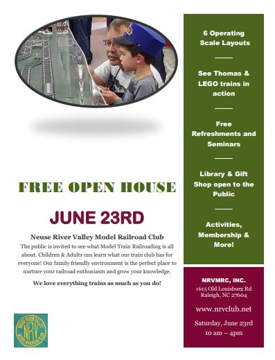 June 23rd open house 2018